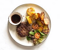 <p>Beef Steak with new potatoes</p>